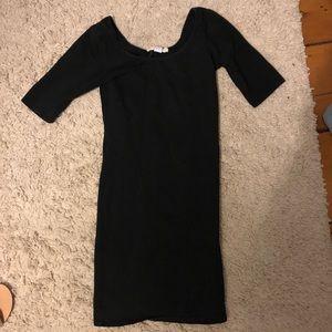 SOLOW bodycon black dress